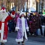 Шествие Дедов Морозов в Могилёве