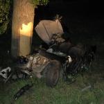 Автомобиль «Ситроен-Ксантия» после столкновения с деревом