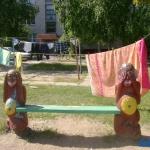 Кутепова 8, местные жители разноообразили ландшафт двора