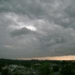 За несколько минут до начала бури