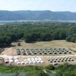 лагерь спасателей на берегу Волги недалеко от Самары
