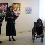 Открытие выставки Моники Лемешонок