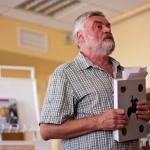 Во время презентации книги в Минске, фото TUT.BY