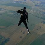 А.Анджиевский пилотирует в воздухе