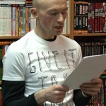 Владимир Козлов за чтением своего романа