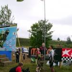 поднятие флага состоялось только на второй день соревнований