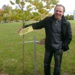 Владимир Девятов посадил дерево собственными руками