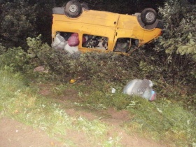 Причина аварии: водитель уснул за рулём
