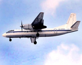 Ан-24 летит над Могилёвом