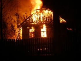 Дом в деревне Бацевичи сгорел практически полностью