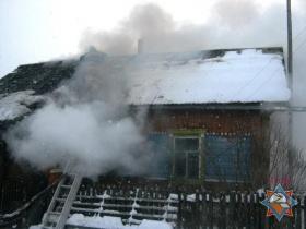 Пожар в Буйничах, фото МЧС