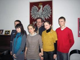 Сергей Маршалковский со студентами