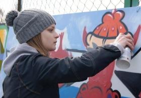 История Могилева в стиле граффити