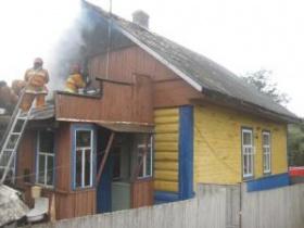 Пожар на улице Карабановская в Могилёве