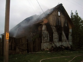 Пожар в деревне Красница-2 Могилёвского района.