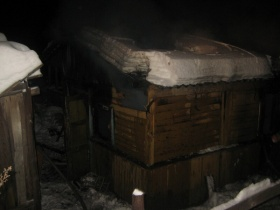 Пожар на улице Новицкого в Могилёве