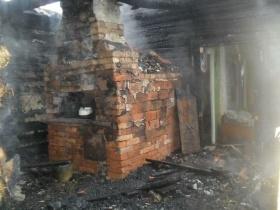 Пожар в деревне Новосёлки