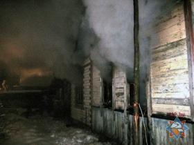 Пожар в доме по переулку Паустовского в Могилёве