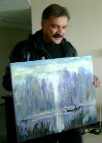 А.Тиханович и его Рыбак в Могилёве