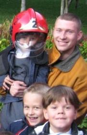пожарные и дети в Могилёве