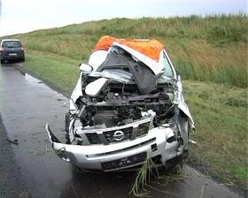 «Ниссан» после аварии