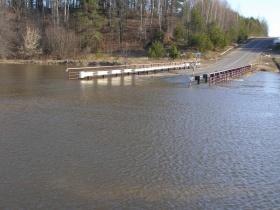 Затоплен мост через реку Проня, Могилёвская область, Славгородский район
