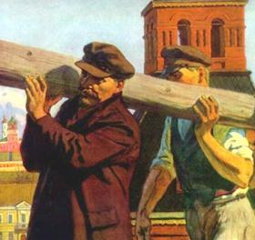 Ленинс на субботнике в Могилёве