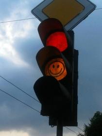 Светофор со смайликом в Могилёве