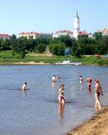 На городском пляже Могилёва