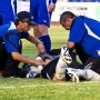 Борис Панкратов получает первую травму